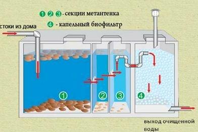 Схема биофильтра
