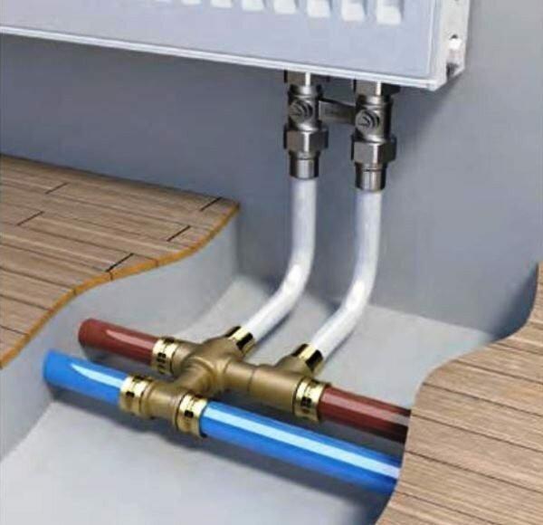 Благодаря высокой надежности пресс-соединения отлично подходят для систем теплого пола