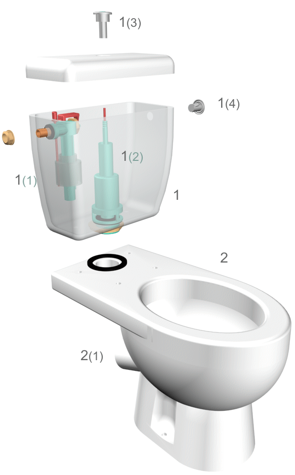 Чаще всего достаточно с приложением минимальных усилий выкрутить кнопку 1(3) из сливного механизма 1(2).