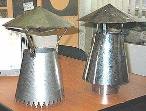 Дефлекторы на дымовые трубы имеют схожую конфигурацию