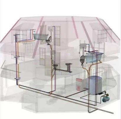 Схема канализации двухэтажного коттеджа