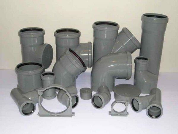 Дополнительные детали для труб из поливинилхлорида.