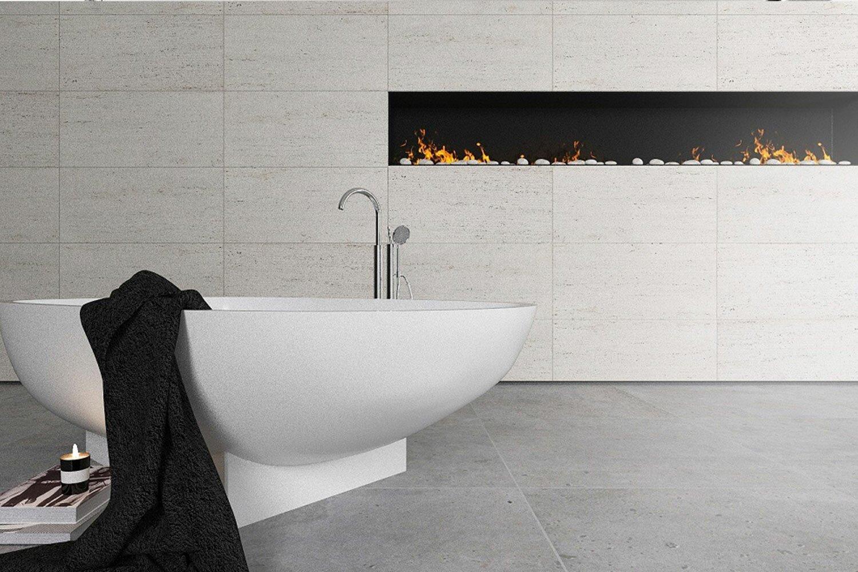 Ванная с камином - типы каминов и требования к установке