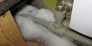 Фото замерзшего трубопровода