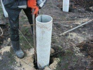 Использование труб в качестве своеобразной опалубки при изготовлении бетонных свай
