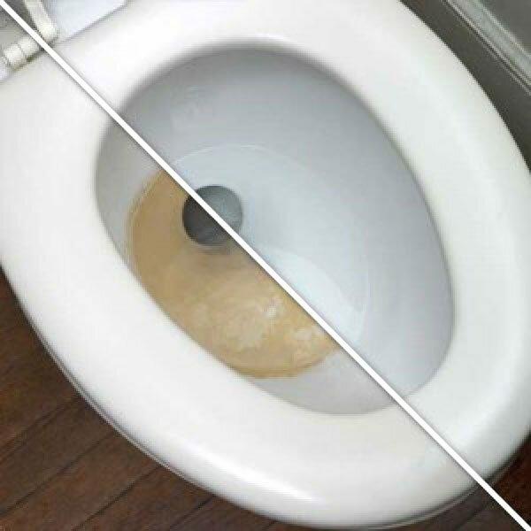как удалить ржавчину с унитаза
