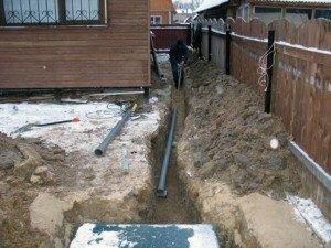 В любой бане непременно должна быть канализация