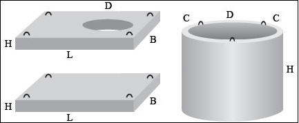 Колодец с основанием и перекрытием прямоугольной формы