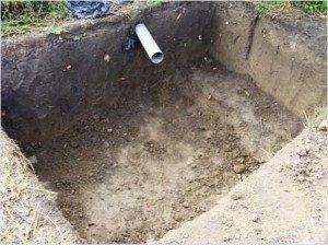 Котлован под сливную яму