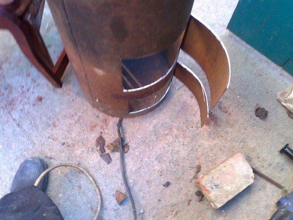 Крышка поддувала и камеры сгорания