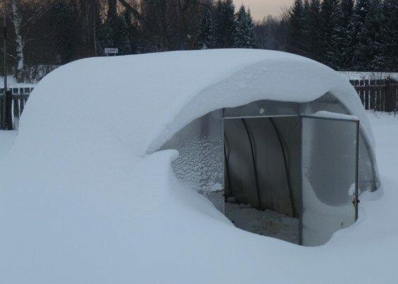 Металлопластиковая конструкция в зимний период
