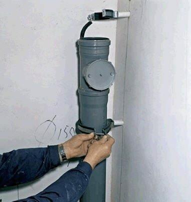 После ревизии можно устанавливать вентиляционную трубу