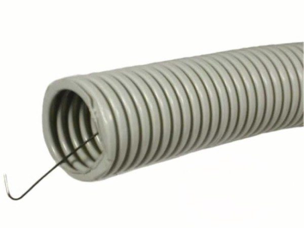 На фото - гофрированная труба с зондом