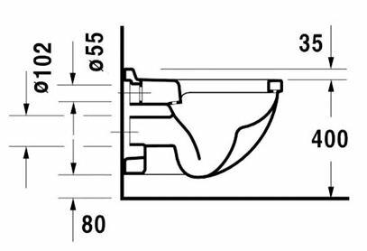 На схеме указаны обычные размеры и оптимально расстояние поверхности унитаза от пола.