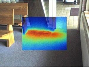 Невидимая протечка, обнаруженная при помощи тепловизора