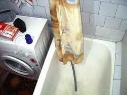 Организация слива воды в ванну