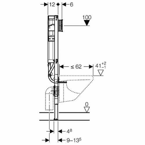 Перед вами схема инсталляции GeberitUP320. Попробуйте мысленно подключить ее любым способом к наклонному раструбу косого тройника. На каком расстоянии от стены она окажется?