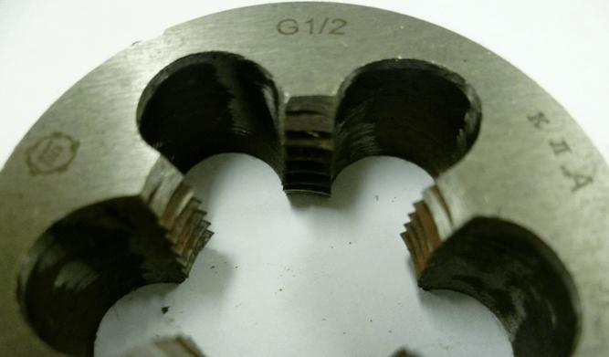 Плашка из легированной стали размером 1 2 дюйма