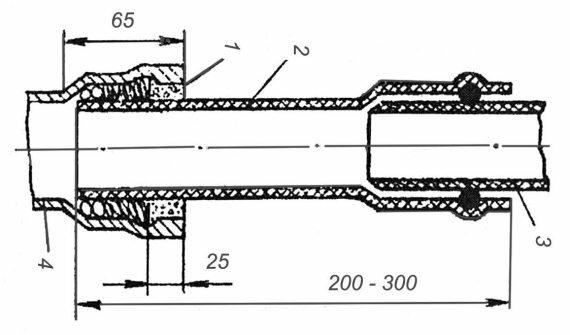 По этой схеме осуществляется монтаж канализационных пластиковых труб.