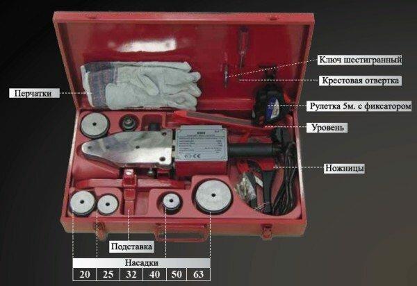 Полная комплектация необходимого оборудования для сварки полипропиленовых труб