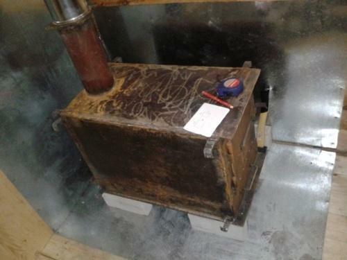 Пример приваренного к крышке куска трубы