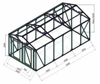 Вариант графического проекта по изготовлению гаража с использованием металлической профильной трубы