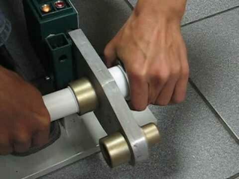 Процесс плавления элементов трубопровода