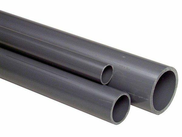 Ровные клеевые поливинилхлоридные трубы