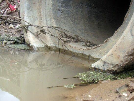 сброс сточных вод на рельеф