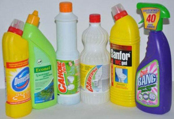 Составы для очищения труб канализации.