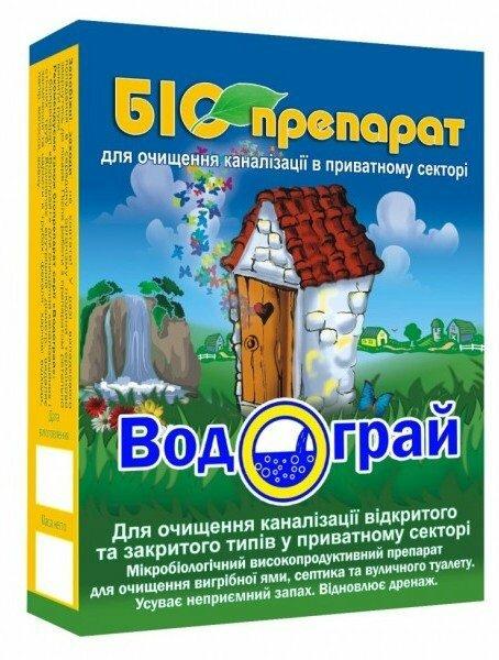 """Биопрепарат """"Водограй"""" служит для очистки выгребных ям, септиков"""