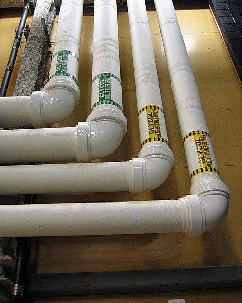 Трубопровод из ПВХ труб
