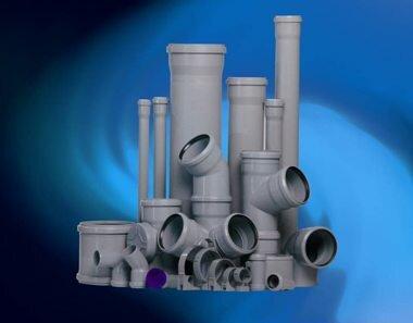 Трубы и прочие элементы для прокладки канализации в доме