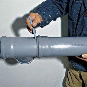 Дополнительная установка (врезка) фасонных частей