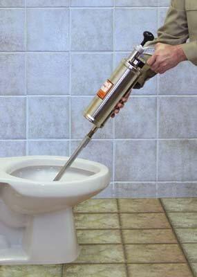 Специальный аппарат для прочистки унитаза